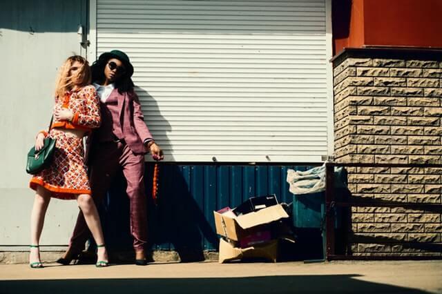 two girls on street
