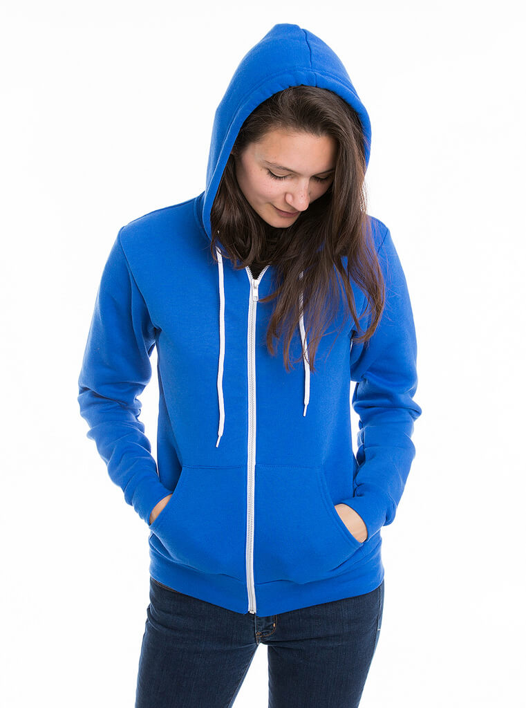girl in blue fleece