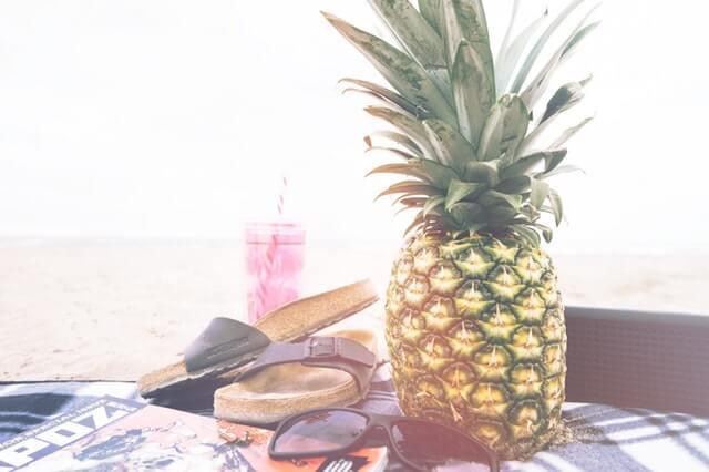 birkenstocks and pineapple