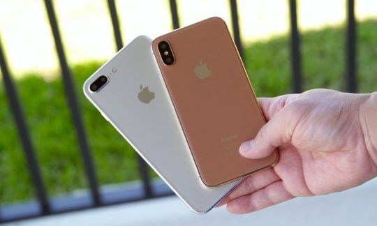 rose gold and silver iphone