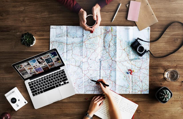 map and travel planning